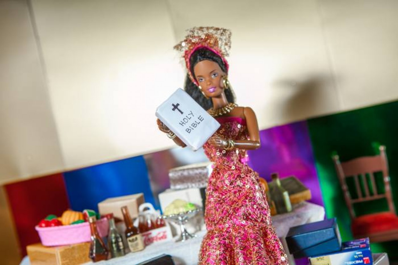 The Black Barbie Traditional Wedding  Banner